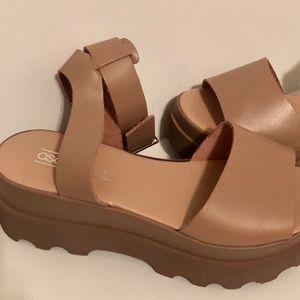 898a27c0fec3 ASOS Shoes - ASOS DESIGN Temple leather platform sandals